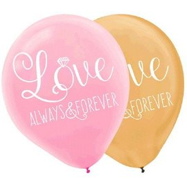 Latex Balloons-Love Always and Forever12''-6pk