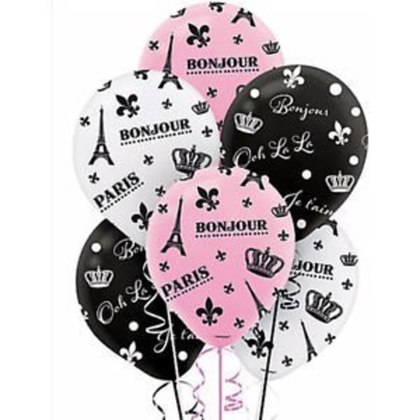 Balloons - Helium Quality (6 Balloons -12 in)