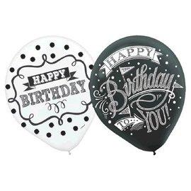 Balloons Chalkboard Birthday (15PCS)