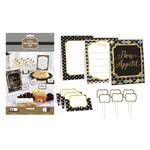 Buffet Decorating Kit-Black Silver Gold