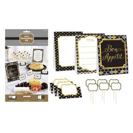 Buffet Decorating Kit-Black Silver Gold
