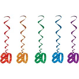 Danglers-Metallic Swirl-80th Celebration-5pkg-40""