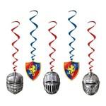 "Danglers-Foil Swirl-Medieval Knight-5pkg-40"""