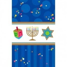 Table Cover-Hanukkah Celebrations-Plastic-54'' x 102''
