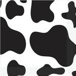 Beverage Napkins-Cow Print-16pkg-2ply