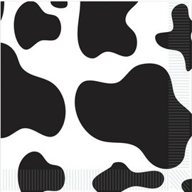 Beverage Napkins-Cow Print-16pkg-2ply