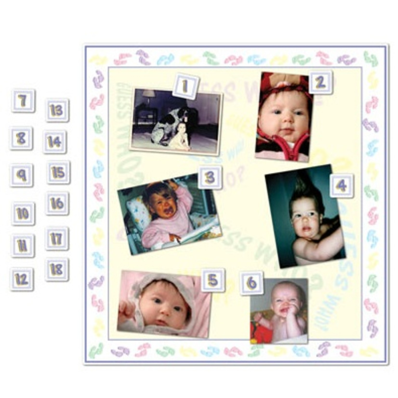 """Baby Shower Game-Guess Who?-1pkg-18.5"""""""
