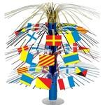 "Centerpiece-Metallic Cascade-Nautical Flags-1pkg-18"""