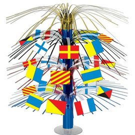 Centerpiece-Metallic Cascade-Nautical Flags-1pkg-18""
