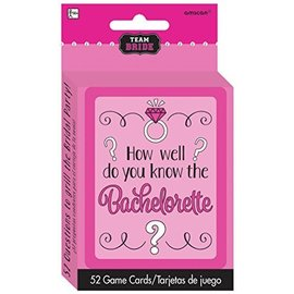 Game Cards-Team Bride-Bachelorette-52Pk/4.5''