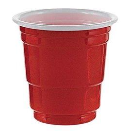 Shot Glasses-Apple Red-Plastic-2oz-20Pk