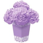 Centerpiece-Fluffy Flower-Lilac Damask-11.5''