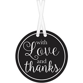 Tags-With Love And Thanks-Black-25pk-2''