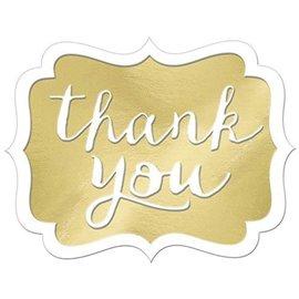 Stickers-Thank You-Gold-50pcs-1.5'' x 1''