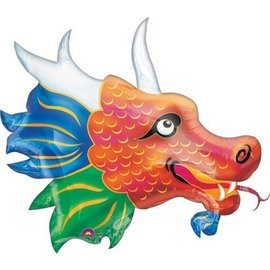 "Foil Balloon - Chinese New Year Dragon - 33""x26"""