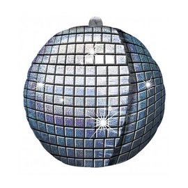 Foil Balloon-Ultrashape-Silver Disco Ball