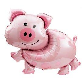"Foil Balloon - Smiling Pig - 25""x35"""