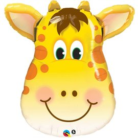 Foil Balloon-Supershape-Smiling Cartoon Giraffe Face