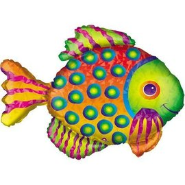 Foil Balloon-Supershape-Rainbow Tropical Fish