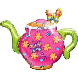 Foil Balloon - Teapot and Butterflies - 44""