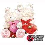 "Foil Balloon - Beary Special Girl Bear - 24"""