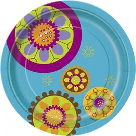 Plates-LN-Swanky Colors-8pkg-Paper (Discontinued/Final Sale)