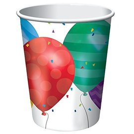 Paper Cups-Balloon Blast-8pkg-9oz - Discontinued