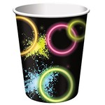 Paper Cups-Glow Party-8pkg-9oz - Discontinued