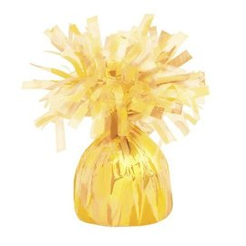 """Balloon Weight-Foil-Yellow-1pkg-4.5""""x2.25"""""""