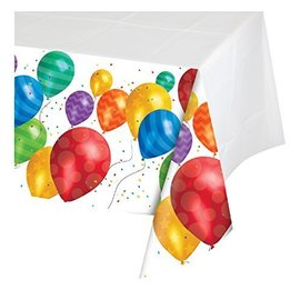 Tablecover-Rectangle-Balloon Blast-54''x102''-Plastic - Discontinued