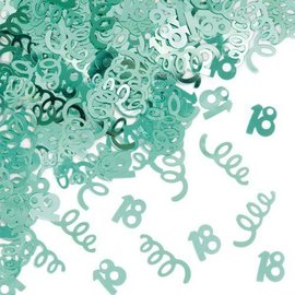 Confetti-Foil-Teal Age 18 Swirls-1pkg-14g