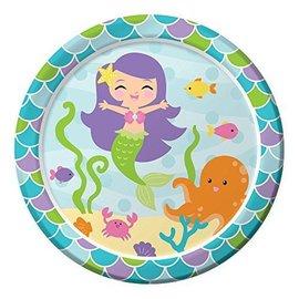 Plates-LN-Mermaid Friends-8pkg-Paper - Discontinued