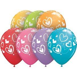 """Latex Balloon-Mix & Match Hearts Assortment-1pkg-11"""""""
