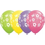 "Latex Balloon-Fun Flowers Assortment-1pkg-11"""