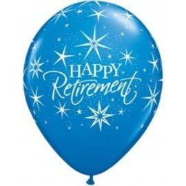 Latex Balloon-Happy Retirement Bursts Assortment-1pkg-11""