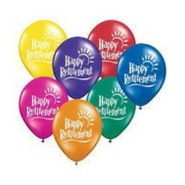 Latex Balloon-Happy Retirement Sun Assortment-1pkg-11""