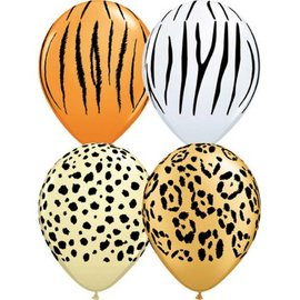 Latex Balloon-Safari Assortment-1pkg-11""