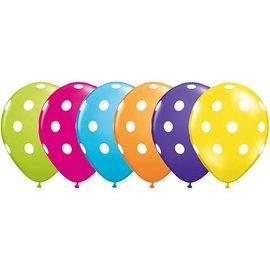 "Latex Balloon-Big Polka Dots Assortment-1pkg-11"""