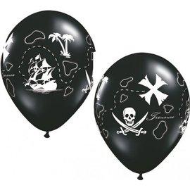 "Latex Balloon-Pirate's Treasure Map-1pkg-11"""
