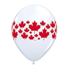"Latex Balloon-Maple Leaf A Round-1pkg-11"""
