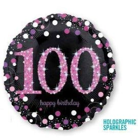 Foil Balloon - 100 Birthday - 18''