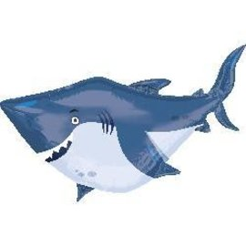 Foil Balloon-Supershape-Big Blue Shark