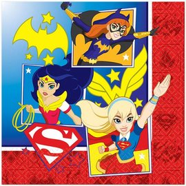 Napkins - DC Superhero Girls - 16pc