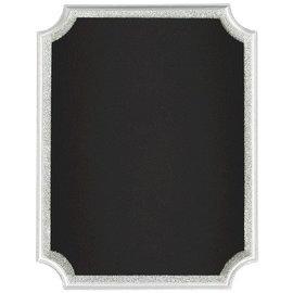 Chalkboard-Silver Glitter Easel Sign