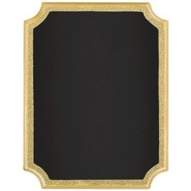 Chalkboard-Gold Glitter Easel Sign