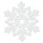 Decorative White Glitter Snowflake