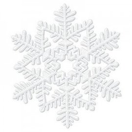 Decorative White Glitter Snowflake