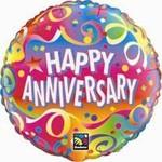 "Foil Balloon-Happy Anniversary 18"""