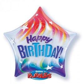 "Foil Balloon-Happy Birthday Bubble 22"""