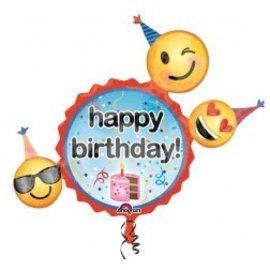 "Foil Balloon-Emoji SuperShape 36"""